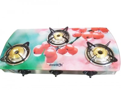 Blow hot Redberry 3B Glas top Designer Gas Stove