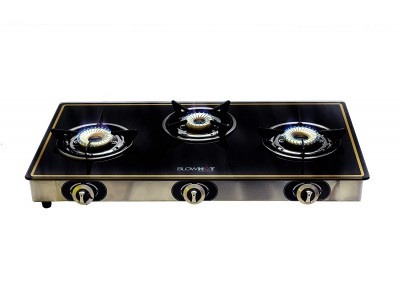 Blowhot Pearl 3 burner glass top AUTO IGNITION Gas Stove