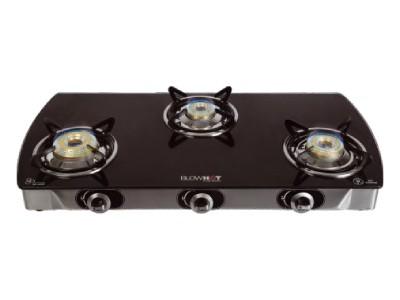 Blowhot G - 003 Jasper Non Auto Black with new Tornado Burner Glass top gas stove