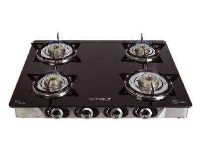 Blowhot G - 004 Jasper Non Auto Black with new Tornado Burner Glass top gas stove