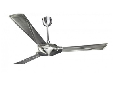 Crompton Kannon Electroplated 1300mm Brushed Steel ceiling fan