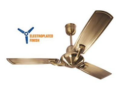 Crompton Triton Electroplated 1200mm Antique Brass ceiling fan