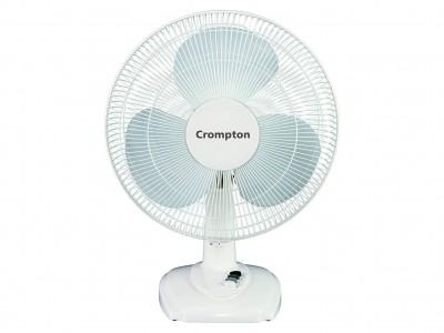 Crompton High Flo Eva 400mm white Table Fan
