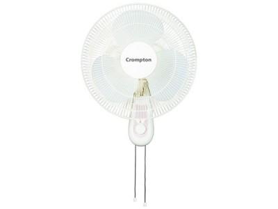 Crompton High Flo LG 400mm Light Grey Wall mount fan