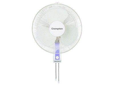 Crompton High Flo Wave 400mm White Wall mount fan