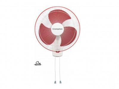 Crompton High Speed 400mm crimpson red Wall mount fan