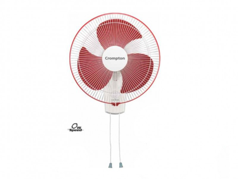 Crompton High Speed 400mm crimpson red Wall mount fan