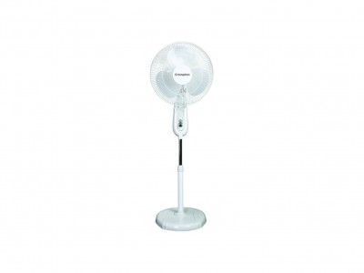 Crompton  High Flo LG 400mm Light Grey Pedestal Fan