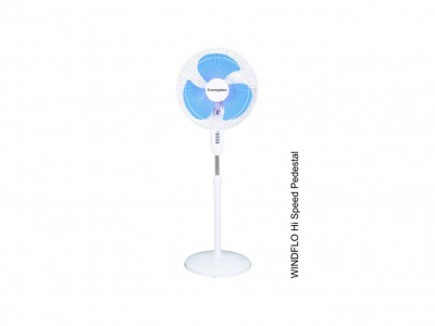 Crompton  Wind flo high speed 400mm White Pedestal Fan