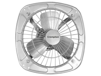 "Crompton Drift Air 6"" Silver Exhaust Fan"