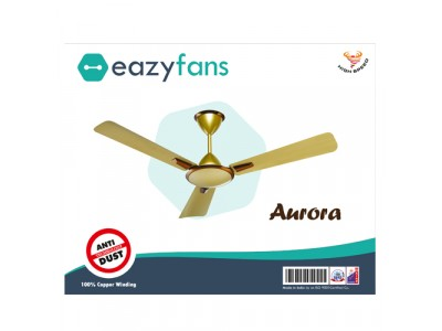 Eazyfans Aurora Anti Dust  Satin Gold HS Ceiling Fan
