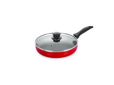 Nirlon Fry Pan with Glass Lid (3.2mm)