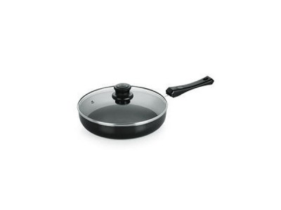 Nirlon Induction Fry Pan with Glass Lid 24cm