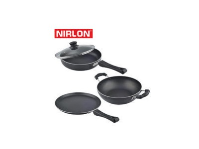 Nirlon Induction Cookware Gift Set 3Pcs