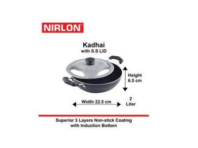 Nirlon Induction Kadai With Steel Lid 1.5L
