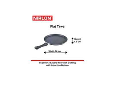 Nirlon Induction Flat Tawa 26cm