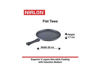 Nirlon Induction Flat Tawa 28cm