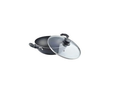 Nirlon Induction Deep Kadai With Glass Lid 3Ltr