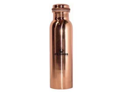 Peacocks Copper Flow Watter Bottle Plain 600ml