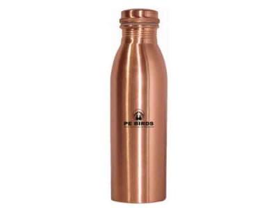 Peacocks Copper Flow Watter Bottle Round 1000ml