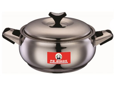 Peacocks Belly Steel Cassarole With Lid (1 ltr)