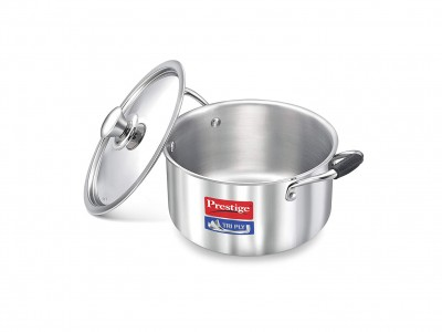 Prestige Tri Ply Casserole with Lid 200 mm