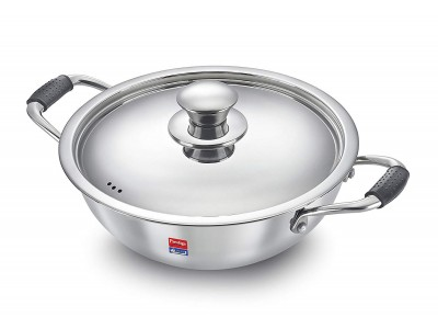 Prestige Tri Ply Kadai with lid 240 mm