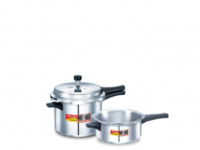 Prestige Popular plus special combi pack 3 Litre & 5 Litre Induction Base Aluminium Pressure Cooker