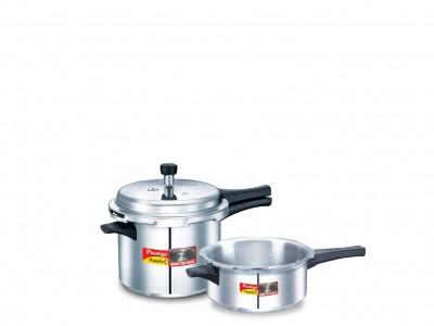 Prestige Popular plus special combi pack 3 Litre & 5 Litre Induction Base Aluminium Pressure Cooker