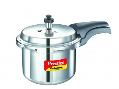 Prestige Deluxe Plus Induction Base Aluminium Pressure Cooker 7.5 Litre