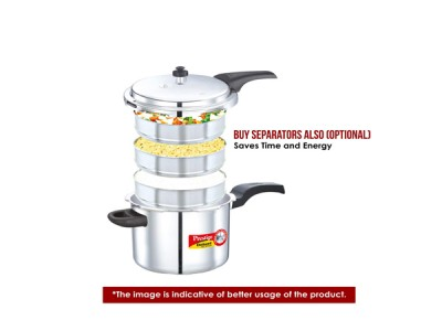 Prestige Deluxe Alpha Pressure Cookers 5.5 Litre Stainless Steel