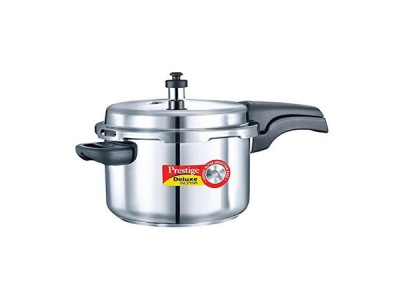 Prestige Deluxe Alpha Pressure Cookers 4 Litre Stainless Steel