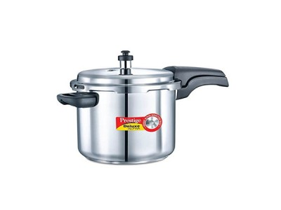 Prestige Deluxe Alpha Pressure Cookers 8 Litre Stainless Steel