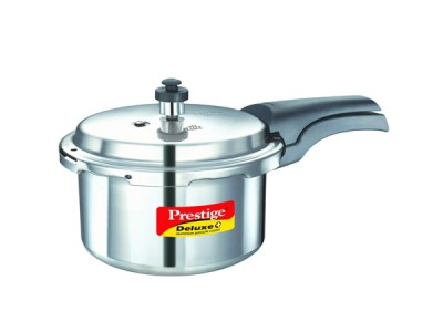 Prestige Deluxe Plus Induction Base Aluminium Pressure Cooker 5 Litre