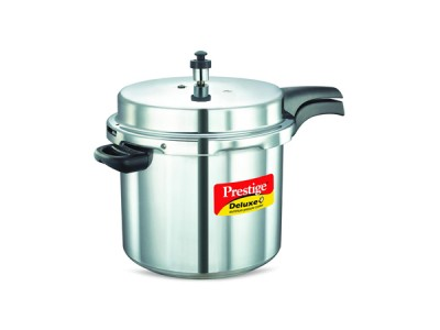 Prestige Deluxe Plus Induction Base Aluminium Pressure Cooker 10 Litre