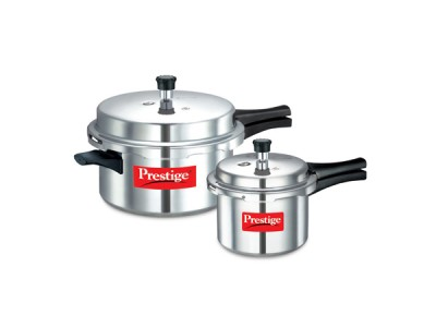 Prestige Popular Double Value Pack Aluminium Pressure cookers 7.5 L + 3 L