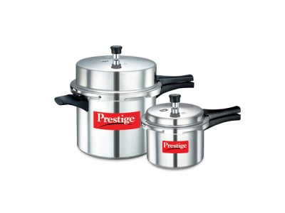 Prestige Popular Double Value Pack Aluminium Pressure cookers 10 L + 3 L