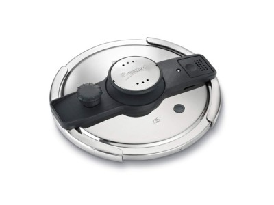 Prestige Clip-on Mini Induction Base Hard Anodised Aluminium Pressure Cooker, 3 litres, Black