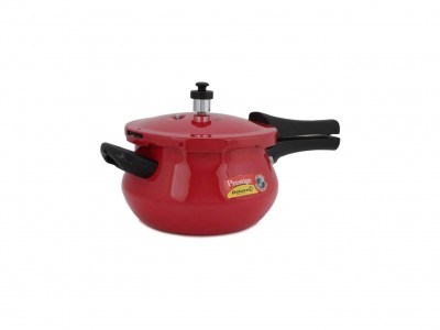 Prestige Deluxe Plus Aluminium Induction Base Pressure Mini Handi 4.8 litre Red