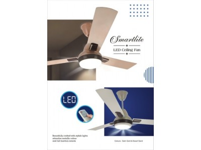 Rally Smartlite Desert Sand LED Ceiling Fan With Remote