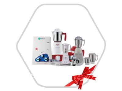 Combo Of Mixer Grinder,Gas Geyser & Cookware