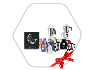 Combo Of Mixer Grinder,Gas Geyser,Induction Cook Top & Dry Iron