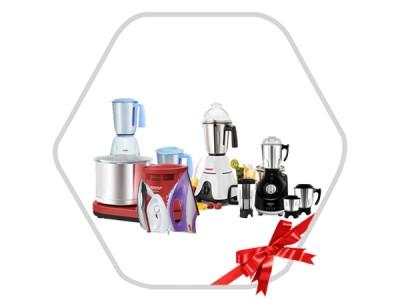 Combo Of Mixer Grinder,Gas Geyser,Wet Grinder & Dry Iron
