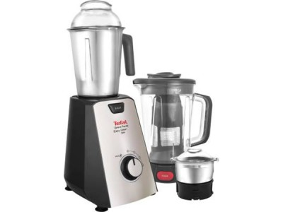 Tefal Grindforce Easyclean 750-Watt Mixer Grinder with 2 SS Jars + Blender