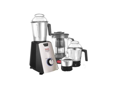 Tefal Grindforce Easyclean 750-Watt Mixer Grinder with 3 SS Jars + Blender
