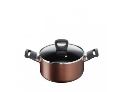 Tefal Super Cook Plus Stewpot/Biryani Pot 20 cm with Glass Lid