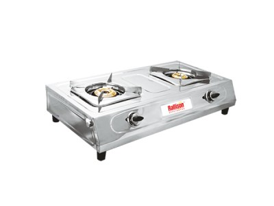 Rallison Diamond Stainless Steel 2 Burner Gas Stove