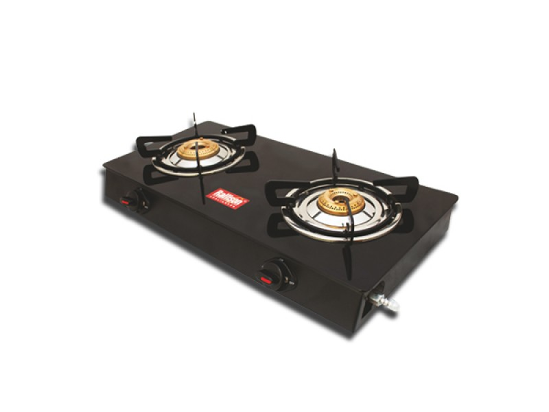Rallison Grand Cute 2 Burner Glass Top (Black) Gas Stove