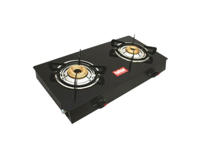 Rallison Deo 2 Burner Glass Top (Black) Gas Stove