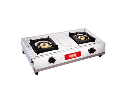 Rallison Leo Stainless Steel 2 Burner Gas Stove